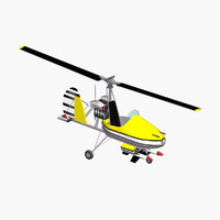 little nellie autogyro 3d model