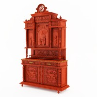 3d furniture classical breton dining room model