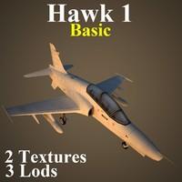 hawk1 basic 3d model