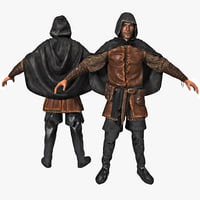 medieval thief rigged 3d model