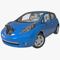 Nissan Leaf BEV 2014 Rigged