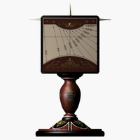 3d obj florentine sundial dials