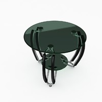3ds max glass stool