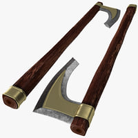 viking axe 3d model