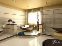 bathroom scene c4d