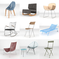 3d chairs realistic