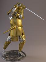 statuette samurai maeda 3d model