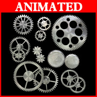 3d kinds gear mechanical animation