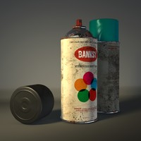 3d spray paint model