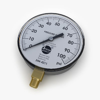 3d steam pressure gauge