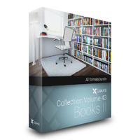 CGAxis Models Volume 43 Books II + Render Scene
