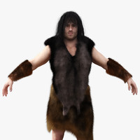 neanderthal cave man 3d model