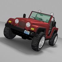 3d model modeled 4x4 jeep