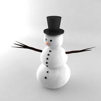 3dsmax snowman rendering materials