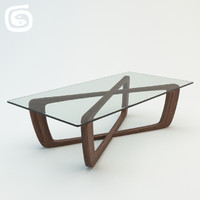3d bark coffee table model