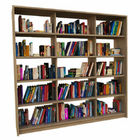 books bookcase 3d 3ds