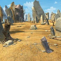 3d desert stone
