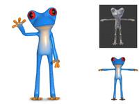 3d cute frog