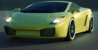 3d lamborghini gallardo model