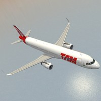3d sharkleted airbus a321neo tam model