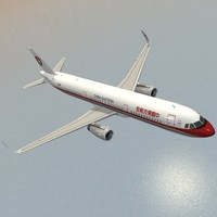 sharkleted a321neo china eastern airlines 3d model