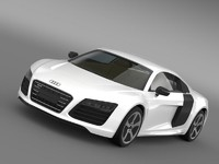 audi r8 e tronprototype 3d model
