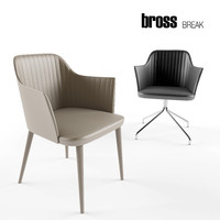 3d model bross break armchairs