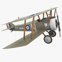 British WWI Biplane Fighter Sopwith F1 Camel Rigged