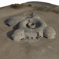 3d model octocopter scanned bunker