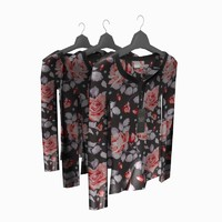 3d woman blouse hanger model
