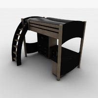 sleeper bed workstation 3d model