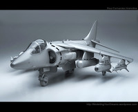 jet fighter harrier 3d max