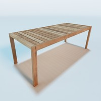piet boon table 3d 3ds