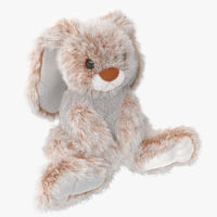 3d model stuffed rabbit toy