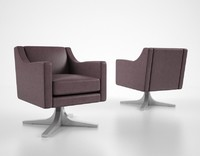 3d model of holly hunt tesoro lounge chair
