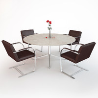 3ds max knoll brno chair table desk
