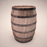 3d wine barrel