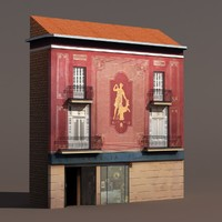 building modeled 3d model