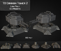 maya td cannon tower 02