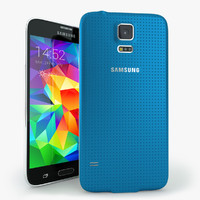 3d samsung galaxy s5 mobile phone model