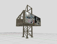 old billboard 3d model
