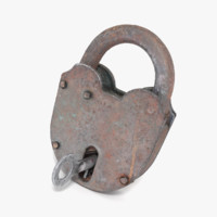modo padlock key locked obj
