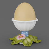 3d egg cup leaves