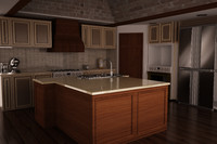 kitchen scene model