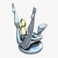 emblem v8 3d max