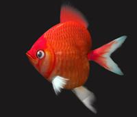 3d model shaped fish