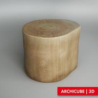 3dsmax stump stool