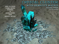 3ds max fantasy crystal cluster