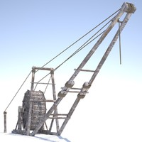 3ds max medieval wooden crane