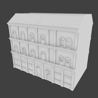 building facades interior 3d model